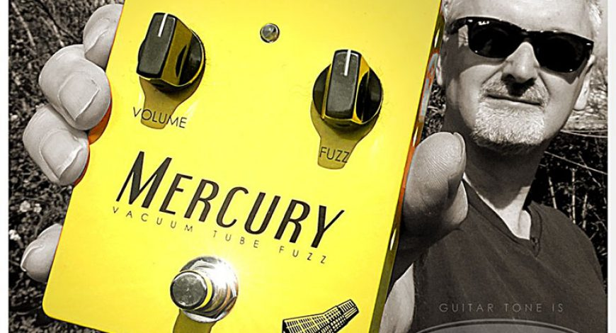 Mercury Vacuum Tube Fuzz Guitar pedal held by a man