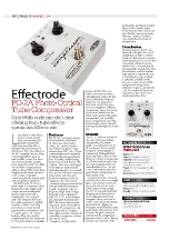 15) Bass Guitar Magazine Effectrode PC-2A Photo-optical Tube Compressor Issue 60, November 2010, pp 72