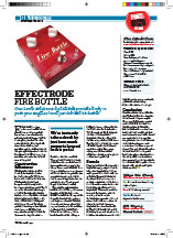 Guitar Buyer Effectrode Fire Bottle Issue 121, September 2011 pp76