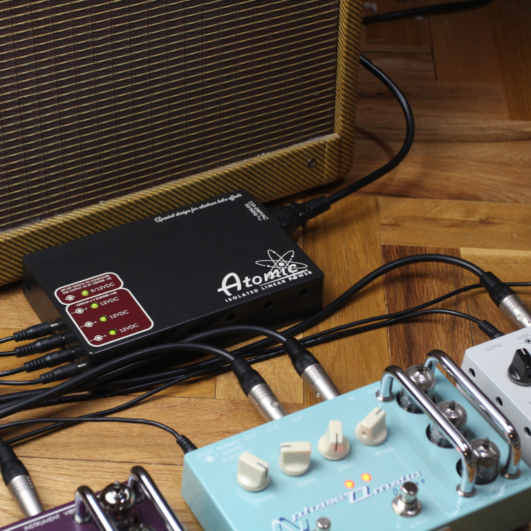Atomic power supply for guitar