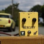 Mercury valve guitar Fuzz pedal on an amp