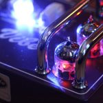 A Glowing valve in Tube-Vibe guitar pedal