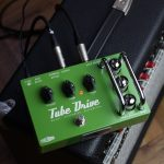 Effectrode Tube Drive guitar pedal on top of an amp