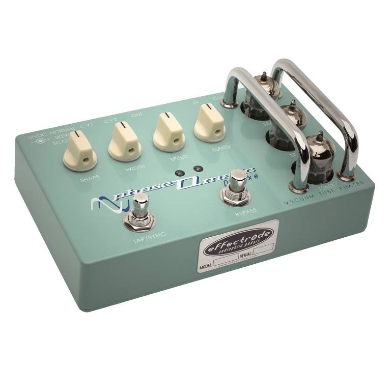 Phaseomatic tube phaser-vibrato effects pedal