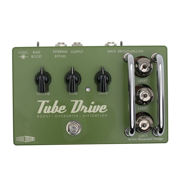 Top view of Effectrode Tube Drive Guitar effects pedal