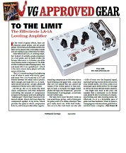 Vintage Guitar Approved Gear Levelling Amplifier – June 2018