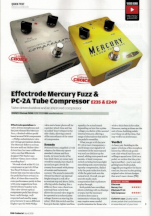 24) Guitarist Effectrode Mercury Fuzz and PC-2A Tube Compressor Issue 392, April 2015, pp 134