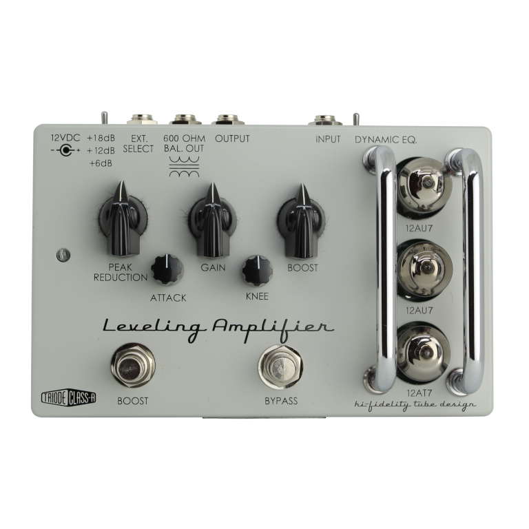 A top view of the Leveling Amp guitar pedal