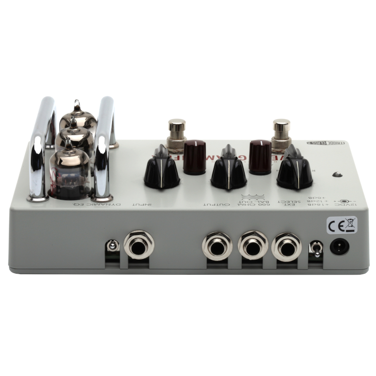 Back of Leveling Amplifier Guitar Pedal