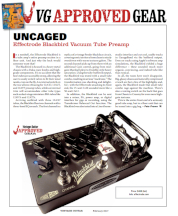 Vintage Guitar Magazine Blackbird Preamp Review Feb 2017
