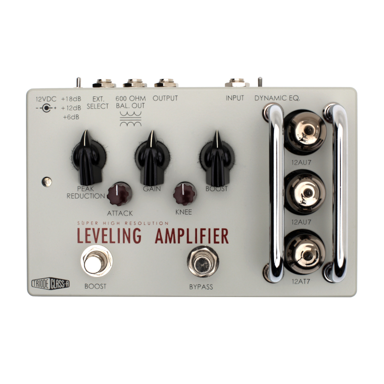 Top of Leveling Amplifier Guitar Pedal