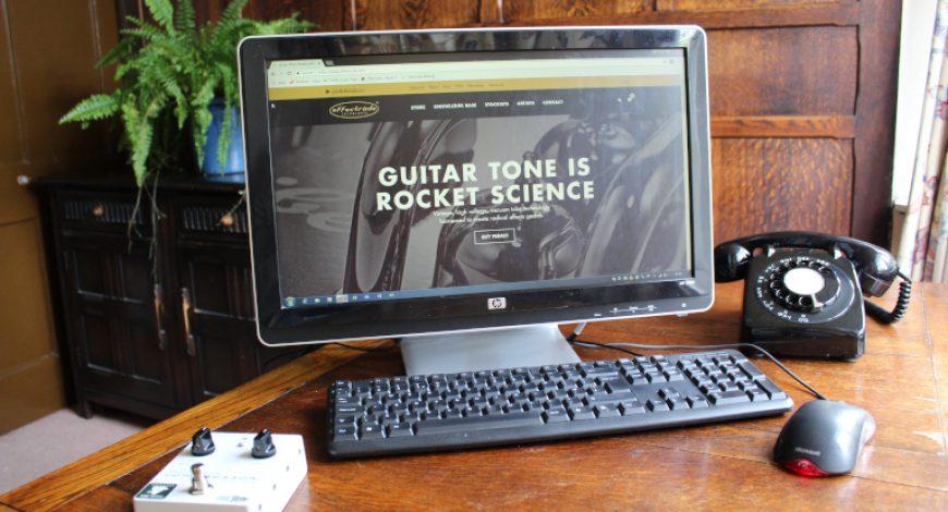 Computer screen showing effectrode new website