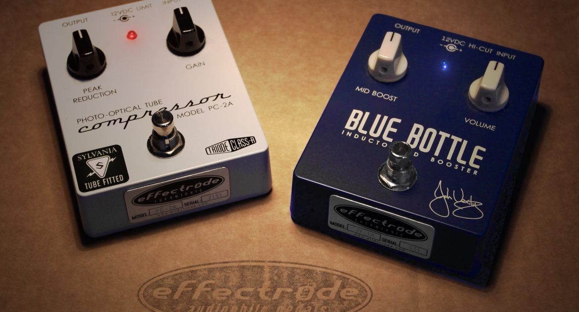 PC-2A compressor and Blue Bottle boost guitar edals