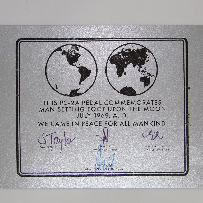 PC-2A Limited Edition Certificate
