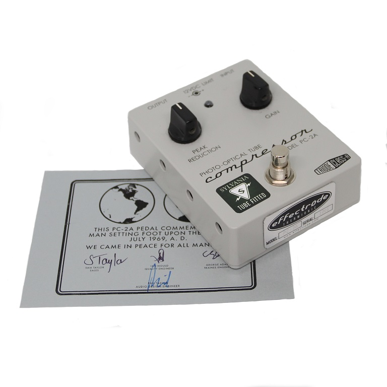 A PC-2A Guitar pedal with commemorative certificate