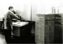 Printed Circuit Board (PCB) fabrication – photograph taken 1970s