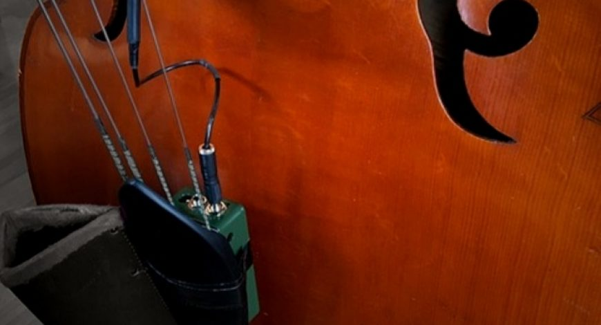 'Glass-A' on double bass