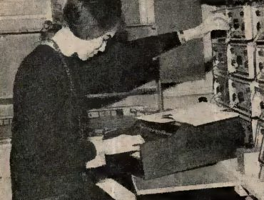 Picture of Delia Derbyshire taken from Practical Electronics magazine October 1965